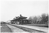 Title is &quot;Pulling into the station in 1899&quot;<br /> Bennington, VT  Taken by Watson, Madison E.