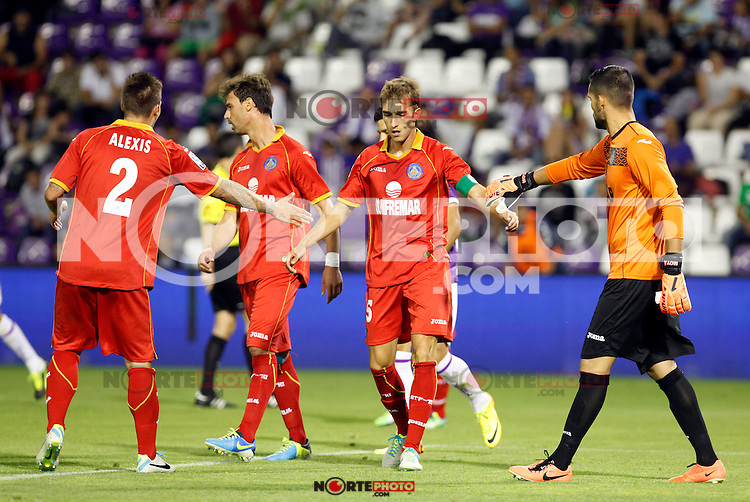 Getafe's Rafa (c) during La Liga match.August 31,2013. (ALTERPHOTOS/Victor Blanco)