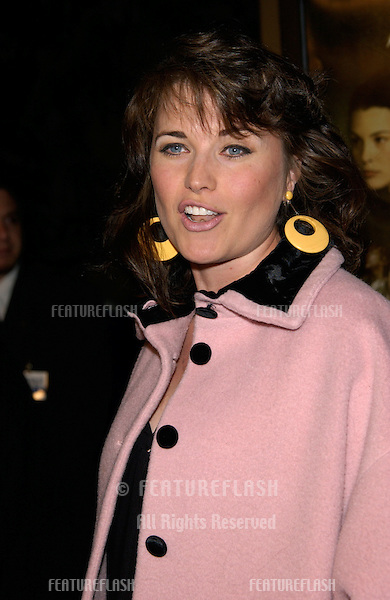 Actress LUCY LAWLESS at the Los Angeles premiere of The Lord of the Rings: The Fellowship of the Ring..16DEC2001..© Paul Smith/Featureflash