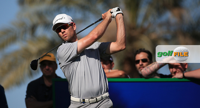 Trevor Fisher JNR (RSA) in action during Round Three of the 2016 Omega Dubai Desert Classic, played on the Emirates Golf Club, Dubai, United Arab Emirates.  06/02/2016. Picture: Golffile | David Lloyd<br /> <br /> All photos usage must carry mandatory copyright credit (&copy; Golffile | David Lloyd)