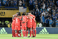 BOGOTA - COLOMBIA, 10-12-2017: Millonarios y América de Cali en partido por la semifinal vuelta de la Liga Aguila II 2017 jugado en el estadio Nemesio Camacho El Campin de la ciudad de Bogotá. / Millonarios and America de Cali in second leg match for the semifinal of the Liga Aguila II 2017 played at the Nemesio Camacho El Campin Stadium in Bogota city. Photo: VizzorImage / Gabriel Aponte / Staff.