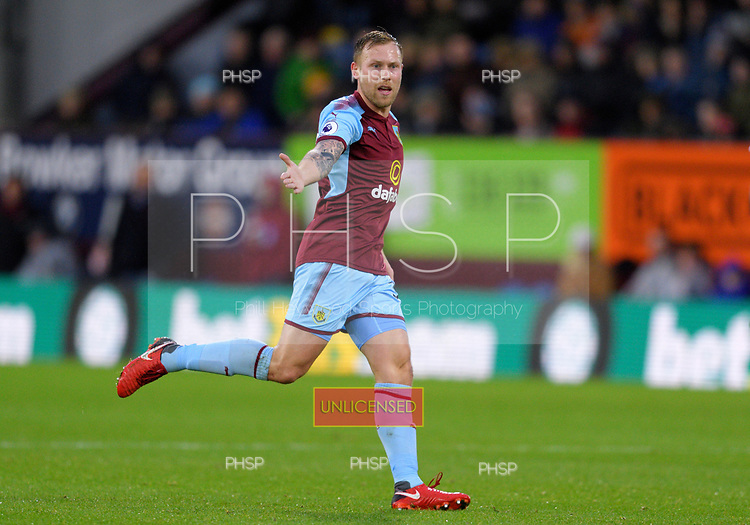 01/01/2018 Premier League Burnley v Liverpool<br /> <br /> Scott Arfield