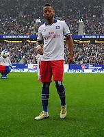 FUSSBALL   1. BUNDESLIGA   SAISON 2012/2013    34. SPIELTAG Hamburger SV - Bayer 04 Leverkusen                      18.05.2013 Dennis Aogo (Hamburger SV) ist enttaeuscht