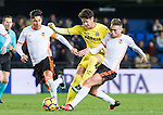 Alexandre Rodrigues da Silva, Pato, (c) of Villarreal CF battles for the ball with Enzo Nicolas Perez (l) and Munir El Haddadi Mohamed of Valencia CF during their La Liga match between Villarreal CF and Valencia CF at the Estadio de la Cerámica on 21 January 2017 in Villarreal, Spain. Photo by Maria Jose Segovia Carmona / Power Sport Images