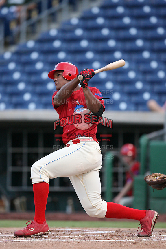 August 12, 2008: Michael Taylor (30) of the Clearwater Threshers at Bright House Field in Clearwater, FL. Photo by: Chris Proctor/Four Seam Images