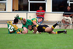 Bombay No 8 H. Lataimauliscore the last try of the match.  Counties Manukau Premier Club Rugby, Drury vs Bombay played at the Drury Domain, on the 14th of April 2006. Bombay won 34 - 13.