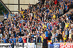 St Johnstone v Eskisehirspor...26.07.12  Europa League Qualifyer.Saints fans celebrates as Gregory Tade scores.Picture by Graeme Hart..Copyright Perthshire Picture Agency.Tel: 01738 623350  Mobile: 07990 594431