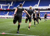 Ali Krieger, Megan Rampone. The USWNT defeated Mexico, 1-0, during the game at Red Bull Arena in Harrison, NJ.