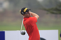 Marcel Siem (GER) tees off the 15th tee during Friday's Round 2 of the 2014 BMW Masters held at Lake Malaren, Shanghai, China 31st October 2014.<br /> Picture: Eoin Clarke www.golffile.ie