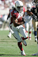 Tempe, ARZ. September 18, 2005. Larry Fitzgerald In an NFL game played at Sun Devil Stadium where the St Louis Rams defeated the Arizona Cardinals 17-12