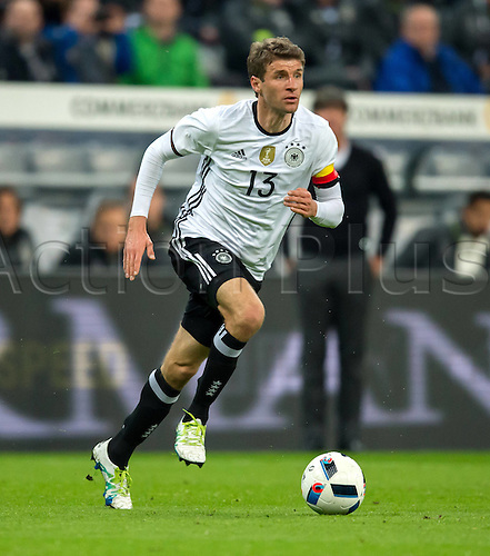 29.03.2016. Munich, Germany. International soccer match between Germany and Italy, at the Allianz Arena in Munich.  Thomas Mueller (Ger)