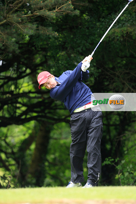 Mark Power (Kilkenny) on the 2nd tee during Round 3 of the Irish Boys Amateur Open Championship at Tuam Golf Club on Thursday 25th June 2015.<br /> Picture:  Thos Caffrey / www.golffile.ie