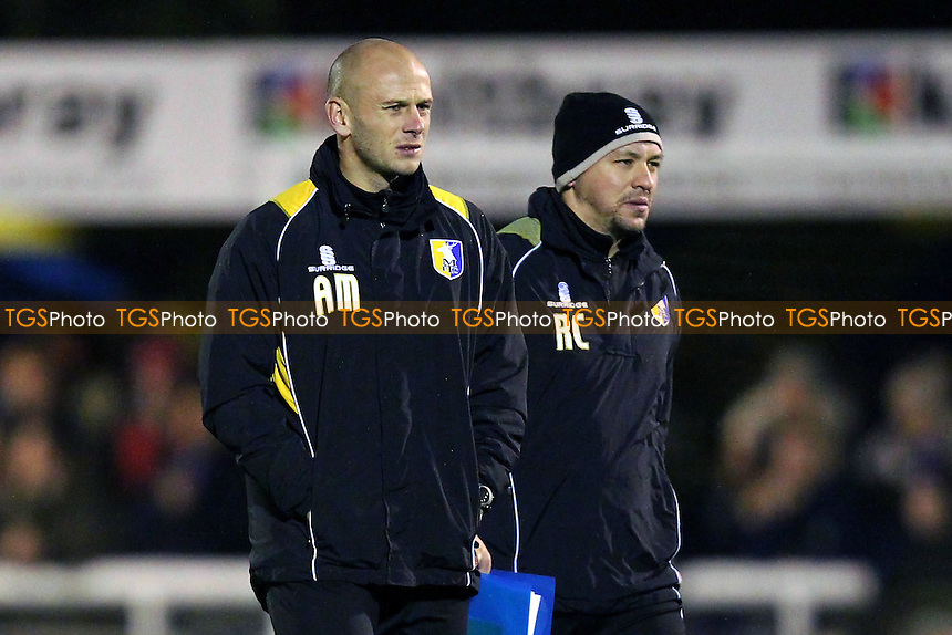 Adam Murray, caretaker manager of Mansfield Town (L) - Concord Rangers vs Mansfield Town - FA Challenge Cup 1st Round Replay Football at the Aspect Arena, Thames Road, Canvey Island, Essex - 25/11/14 - MANDATORY CREDIT: Gavin Ellis/TGSPHOTO - Self billing applies where appropriate - contact@tgsphoto.co.uk - NO UNPAID USE