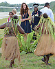 "CATHERINE, DUCHESS OF CAMBRIDGE AND PRINCE WILLIAM.receive a traditional tribal welcome as they land in Marau on their way to Tavanipupu, Solomon Islands_17/09/2012.Mandatory credit photo: ©DIASIMAGES/NEWSPIX INTERNATIONAL..""NO UK USE FOR 28 DAYS"" ..(Failure to credit will incur a surcharge of 100% of reproduction fees)..                **ALL FEES PAYABLE TO: ""NEWSPIX INTERNATIONAL""**..IMMEDIATE CONFIRMATION OF USAGE REQUIRED:.DiasImages, 31a Chinnery Hill, Bishop's Stortford, ENGLAND CM23 3PS.Tel:+441279 324672  ; Fax: +441279656877.Mobile:  07775681153.e-mail: info@newspixinternational.co.uk"