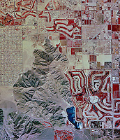 historical infrared aerial photograph of La Quinta, Riverside County, California, 1996