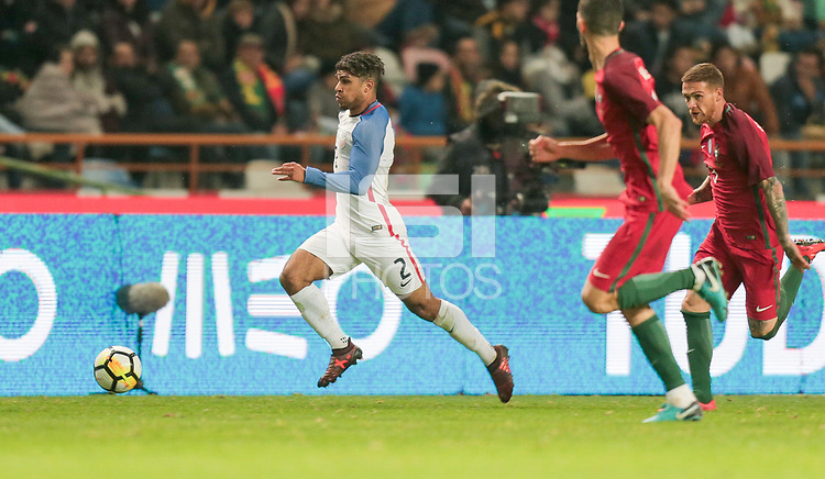 Leiria, Portugal - Tuesday November 14, 2017: DeAndre Yedlin during an International friendly match between the United States (USA) and Portugal (POR) at Estádio Dr. Magalhães Pessoa.