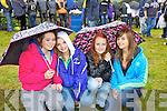 Duagh girls Kati Ahern, Annie Dillon, Jessica Heffernan and Rio Barran didn't let the rain dampen spirits  at the Athea Annual Motorcycle Roadrace last Sunday.