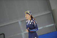 SCHAATSEN: SALT LAKE CITY: Utah Olympic Oval, 12-11-2013, Essent ISU World Cup, training, Sang-Hwa Lee (KOR), ©foto Martin de Jong