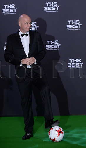 09.01.2017. Zurich, Switzerland.  FIFA president Gianni Infantino arrives at the FIFA World Players of the Year 2016 gala in Zurich, Switzerland, 9 January 2017.