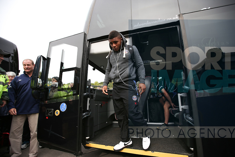Bath's Kyle Eastmond arrives at Adam's Park - Rugby Union - 2014 / 2015 Aviva Premiership - Wasps vs. Bath - Adams Park Stadium - London - 11/10/2014 - Pic Charlie Forgham-Bailey/Sportimage