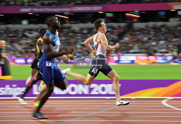 Karsten WARHOLM (NOR) in the mens 400m hurdles semi-final. IAAF world athletics championships. London Olympic stadium. Queen Elizabeth Olympic park. Stratford. London. UK. 07/08/2017. ~ MANDATORY CREDIT Garry Bowden/SIPPA - NO UNAUTHORISED USE - +44 7837 394578