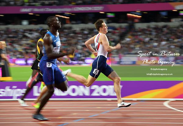 Karsten WARHOLM (NOR) in the mens 400m hurdles semi-final. IAAF world athletics championships. London Olympic stadium. Queen Elizabeth Olympic park. Stratford. London. UK. 07/08/2017. ~ MANDATORY CREDIT Garry Bowden/SIPPA - NO UNAUTHORISED USE - +44 7837 394578