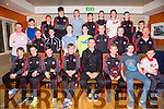 Blennerville GAA U14's awards night at  Keane's of Curraheen on Friday. Kerry footballer Aidan O'Mahony presenting medals to the  U14 Féile team