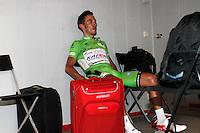 Joaquin Purito Rodriguez dejected before the stage of La Vuelta 2012 beetwen Cercedilla and Madrid.September 9,2012. (ALTERPHOTOS/Paola Otero)