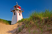 Lighthouse along the dunes at Covehead Harbour<br />