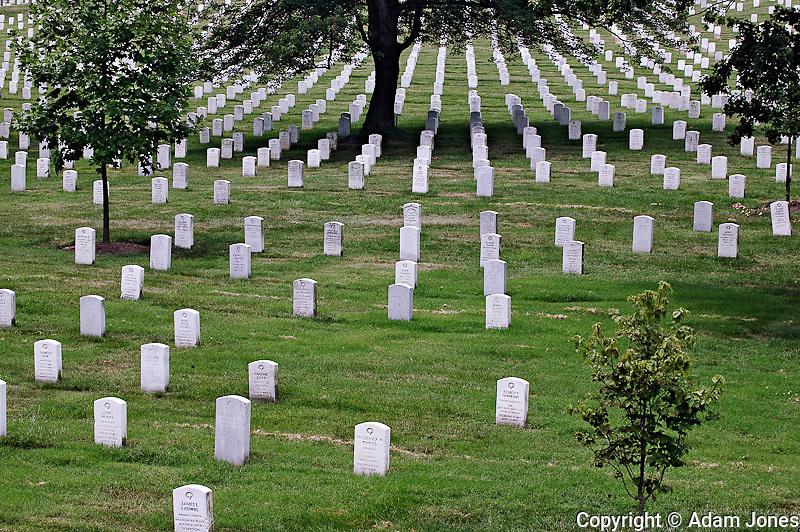 Grave headstones, Arlington National Cemetery, Washington, D.C.