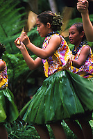 A Lei Day performance at the Hilton Hawaiian Village Hotel by the keiki of Halau Hula O Hokulani