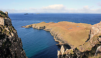 BNPS.co.uk (01202 558833)<br /> Pic: GeoffAllan/BNPS<br /> <br /> View from Rubha Hunish on the Isle of Skye.<br /> <br /> Wilderness walks - new book takes you down paths less travelled in the beautiful Scottish highlands.<br /> <br /> The stunning photos reveal Scotland's best remote walks, and also provide a rudimentary roof over your head at the end of the day. <br /> <br /> Geoff Allan has spent over 30 years travelling the length and breadth of the scenic country, passing through idyllic and untouched landscapes.<br /> <br /> The routes he has selected feature secret beaches, secluded glens, hidden caves and mountains.<br /> <br /> They also include bothies - remote mountain huts - which provide overnight shelter in the wilderness.<br /> <br /> Geoff has listed his top 28 trails complete with GPS maps and descriptions in his book Scottish Bothy Walks.