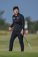 Ruixin Liu (CHN) after sinking her putt on 2 during the round 3 of the Volunteers of America Texas Classic, the Old American Golf Club, The Colony, Texas, USA. 10/5/2019.<br /> Picture: Golffile   Ken Murray<br /> <br /> <br /> All photo usage must carry mandatory copyright credit (© Golffile   Ken Murray)