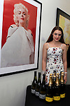 SANTA MONICA - JUN 25: Bella Nelson, Yellow Label Australian Sparkling Wine, Pinot Gris at the David Bromley LA Women Art Exhibition opening reception at the Andrew Weiss Gallery on June 25, 2016 in Santa Monica, California