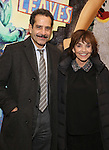 Tony Shalhoub and Brooke Adams attends the press reception for the Opening Night of the Lincoln Center Theater Production of 'The Babylon Line'  at the Mitzi E. Newhouse Theatre on December 5, 2016 in New York City.