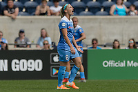 Bridgeview, IL - Sunday June 04, 2017: Julie Johnston Ertz during a regular season National Women's Soccer League (NWSL) match between the Chicago Red Stars and the Seattle Reign FC at Toyota Park. The Red Stars won 1-0.