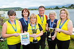The Callinafercy crew who won the Veteran Masters ladies title at the All Ireland Rowing Championships in Waterville l-r: Celine Kavanagh, Sandra Lambe, Sheila Hurley, John Joe O'Sullivan, Margo Lawlor, Mary O'Sullivan