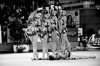 November 9, 2008; Durango, Spain (near Bilbao); Rhythmic gymnasts from Belarus senior group perform gala at 2008 Euskalgym International..