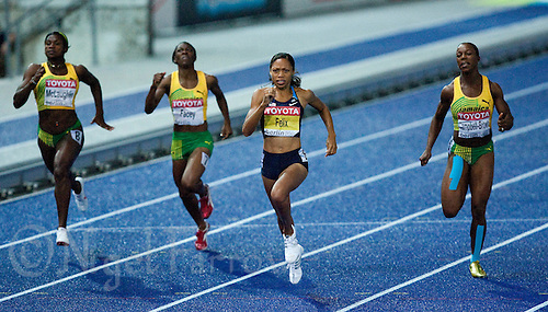 21 AUG 2009 - BERLIN, GER - Allyson Felix (USA) wins the Womens 200m Final at the World Athletics Championships .(PHOTO (C) NIGEL FARROW)
