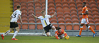 Blackpool's Jordan Thompson battles with Burton Albion's Damien McCrory<br /> <br /> Photographer Stephen White/CameraSport<br /> <br /> The EFL Sky Bet League One - Blackpool v Burton Albion - Saturday 24th November 2018 - Bloomfield Road - Blackpool<br /> <br /> World Copyright © 2018 CameraSport. All rights reserved. 43 Linden Ave. Countesthorpe. Leicester. England. LE8 5PG - Tel: +44 (0) 116 277 4147 - admin@camerasport.com - www.camerasport.com