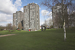 High rise flats student accommodation, halls of residence, University of Essex, Colchester, England