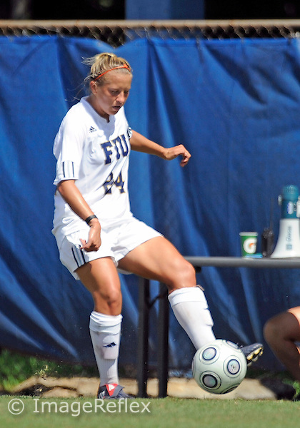 Florida International University women's soccer player Cortney Bergin (24) plays against the University of Louisiana Monroe on October 11, 2009 at Miami, Florida. FIU won the game 5-1. .