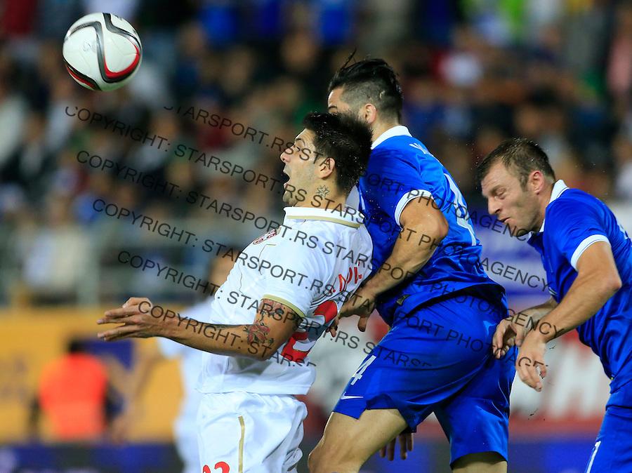 Fudbal<br /> Prijateljski mec-Friendly match<br /> Srbija v Grcka<br /> Aleksandar Mitrovic (L)<br /> Chania, 17.11.2014.<br /> foto: Srdjan Stevanovic/Starsportphoto &copy;