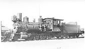 3/4 fireman's-side view of D&amp;RGW locomotive #302 in storage (main rod is missing).<br /> D&amp;RGW  Alamosa, CO  Taken by Perry, Otto C. - 1930