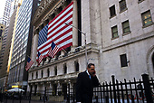 New York, New York<br /> March 18, 2020<br /> 8:45 AM<br /> <br /> Manhattan under coronavirus pandemic. <br /> <br /> The New York Stock Exchange and Wall Street void of people as the market falls over 10,000 points following weeks of the economic fear as a result of the virus.