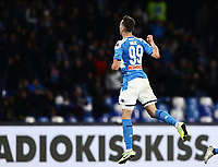 6th January 2020; Stadio San Paolo, Naples, Campania, Italy; Serie A Football, Napoli versus Inter Milan; Arkadiusz Milik of Napoli celebrates after scoring after 39 minutes for 1-2