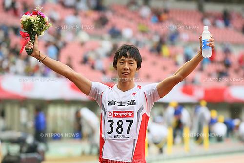 Kei Takase, <br /> JUNE 28, 2015 - Athletics : <br /> The 99th Japan Track &amp; Field National Championships <br /> Men's 100m Final <br /> at Denka Big Swan Stadium, Niigata, Japan. <br /> (Photo by YUTAKA/AFLO SPORT)