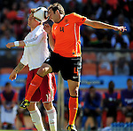4 Joris MATHIJSEN during the 2010 World Cup Soccer match between Denmark and Nederland played at Soccer City Stadium in Johannesburg South Africa on 14 June 2010.  Photo: Gerhard Steenkamp/Clevia Media. Cell: +27 82 453 2345