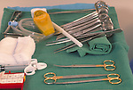 tray with surgical instruments