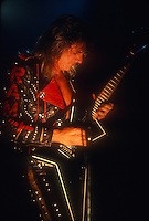 Judas Priest; Glenn Tipton; Live; 1990<br /> Photo Credit: Eddie Malluk/Atlas Icons.com